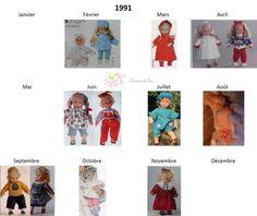 Modes et Travaux - Patrons poupée 1991