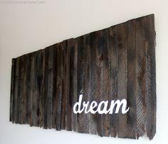make a sign using wood shims