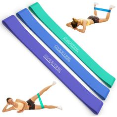 Resistance Loop Band 3 Piece Set for Exercise - Rubber Resistance Training Bands That Are Perfect for Yoga and Pilates Workouts, Strength Training, and Light Physical Therapy - Highest Quality Latex with a Lifetime Guarantee! by Overtime Products Resistance Band Training, Resistance Loop Bands, Resistance Band Exercises, Strength Training, Best Exercise Bands, Fitness Diet, Fitness Motivation, Pilates Workout, Workouts
