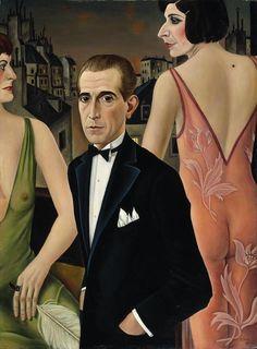 'Portrait du comte St-Genois d'Anneaucourt' (1927) by Christian Schad