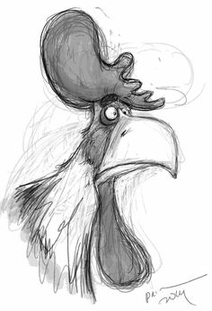 Dainius Šukys,such a clever artist. Animal Sketches, Animal Drawings, Drawing Sketches, Sketching, Cartoon Drawings, Cartoon Art, Art Drawings, Arte Peculiar, Chicken Art