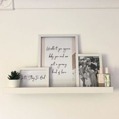 This display shelf is a perfect way to show paintings, photos and other favourite items. Use several and create a whole wall with art and memories. Mosslanda Picture Ledge, Ikea Picture Ledge, Picture Shelves, Rose Gold Room Decor, Rose Gold Rooms, Teen Girl Rooms, Girls Bedroom, Picture Frame Arrangements, Grey Shaker Kitchen