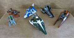 Lot of 6 Lego Star Wars Ships ONLY 9498 7959 8093 9491 8014 75015 vehicles clone #LEGO