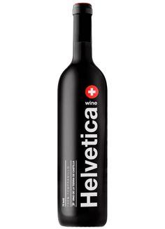 The helvetica wine. Designer's wine! http://www.vinorama.es/denominaciones/vt-de-castilla/vino-helvetica-75-bold