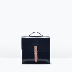 Image 1 of BUCKLED GLOSSY HANDBAG from Zara