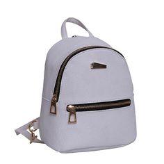 JIANXIU Women's Backpacks for Teenage Girls Schoolbag Backpack Fashion Mini Bag Preppy School Style PU Leather Rucksack mochila