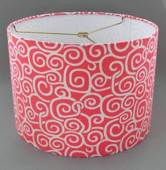 Hey, I found this really awesome Etsy listing at https://www.etsy.com/listing/122032497/drum-lamp-shade-coral-white-medium-size