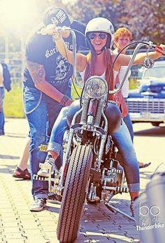❤️ Women Riding Motorcycles ❤️ Girls on Bikes ❤️ Biker Babes ❤️ Lady Riders ❤️ Girls who ride rock ❤️ TinkerTailorCo ❤️ Lady Biker, Biker Girl, Women Riding Motorcycles, Custom Motorcycles, Easy Rider, Biker Chick, Girl Photography, Harley Davidson, Girl Bike