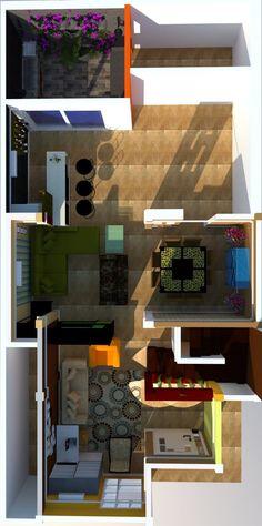 Plano Vivienda. House Plan