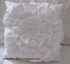 Gorgeous layered petal pillow tutorial, with an ingenious method for installing a zipper!