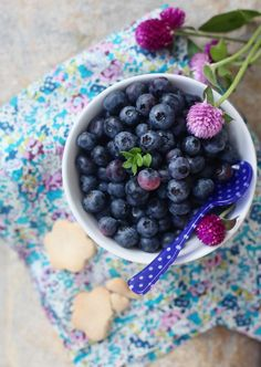 """blueberries from the book """"Je cuisine champetre"""" http://www.griottes.fr/douce-france"""