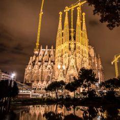 LA SAGRADA FAMILIA  Large Roman Catholic church in Barcelona, Catalonia, Spain, designed by Catalan architect Antoni Gaudí (1852–1926). Although incomplete,...