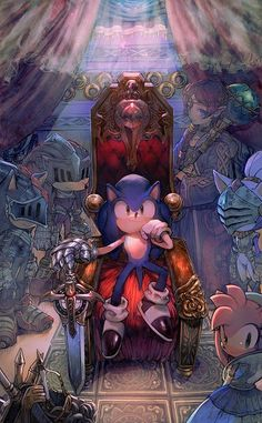 Tags: Throne, Sonic the Hedgehog, Sonic the Hedgehog (Character), Amy Rose, Sega, Blaze the Cat