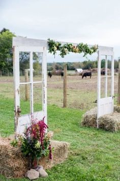 Rustic Boho Farm Old Door Wedding Arch