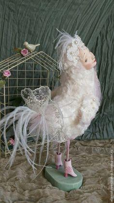 Купить Чудо-птица коллекционная авторская кукла - птица, птичка, птица счастья, птица Сирин