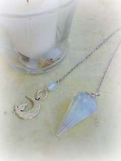 Opalite Pendulum, Divination, Tiffany Stone, Witch Supplies, Healing Crystals, Crystal Pendulum, Dowsing Pendulum, Divination Tool, Witch by TheWitchesCurio on Etsy