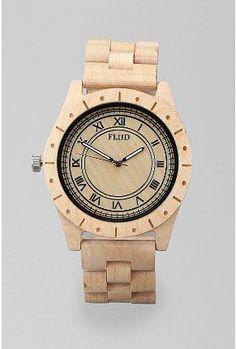 flud big ben wood watch