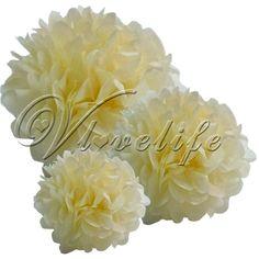 10 Tissue paper pom poms 20cm £4.39  http://www.ebay.co.uk/itm/10-Tissue-Paper-Pom-Poms-Wedding-Birthday-Party-Home-Decoration-Favor-8-10-15-/400442006175?pt=UK_Home_Garden_Celebrations_Occasions_ET&var=&hash=item5d3c341a9f