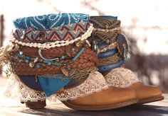 Gypsy Boots, Cowgirl Boots, Western Boots, Estilo Hippie Chic, Estilo Boho, Botas Boho, Fashion Boots, Boho Fashion, Festival Boots