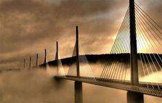 Viaduc de Millau, Languedoc http://www.discoverfrance.com/european-tours-destinations/south-france-vacation