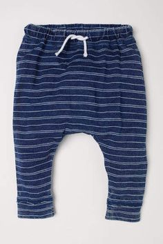 8f523fc02d0 H M Striped Jersey Pants - Blue Striped Jersey