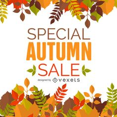 Autumn design with a variety of falling leaves in warm tomes framing a banner or poster. Design says special autumn sale. Best Banner, Fall Banner, Page Design, Layout Design, Free Banner Templates, Material Design Background, Banner Printing, Free Vector Graphics, Autumn Theme
