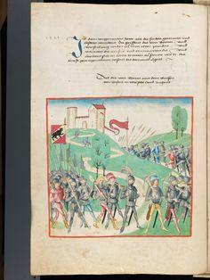 Bern, Burgerbibliothek, Mss.h.h.I.1, f. 150 – Diebold Schilling, Amtliche Berner Chronik, vol. 1