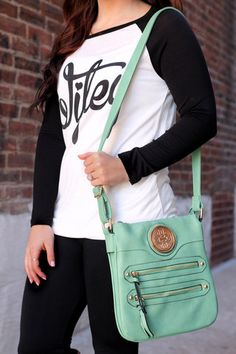 Mint Messenger Bag | UOIOnline.com: Women's Clothing Boutique