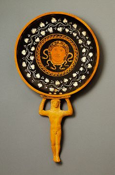 An ancient Greek patera with Medusa. (The J Paul Getty Museum)