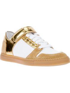 Dsquared2 Metallic Strap Sneaker.