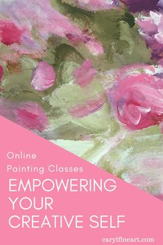 Get inspired in this online mini-workshop to explore your painting style. Let yourself have fun as you learn techniques step-by-step. It's one part art lesson and 2 parts joy as you discover your creative self. Unique Paintings, Your Paintings, Animal Paintings, Soft Colors, Vibrant Colors, Online Painting Classes, Mark Making, Learn To Paint, Art Tips