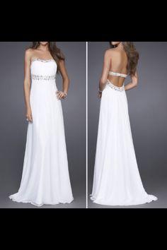 Long white chiffon dress- my actually sweet 16 dress