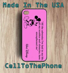 Walt Disney ALL THE ADVERSITY Mickey Mouse by CellToThePhone, $14.99 iPhone 4 case, iPhone 5 case, cell phone case #mickeymousephonecase #disneyquotes