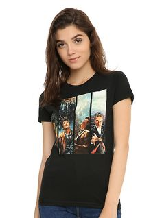 Doctor Who The Doctors Girls T-Shirt, BLACK (Large)