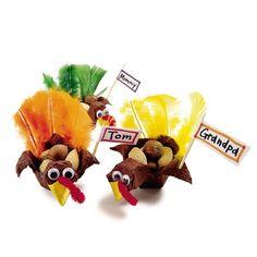 Turkey table favors using egg carton