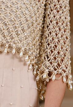 Fashion details   Comment: Enchanted Tales Spun in Pearls & Beads. Chanel Couturel