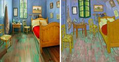For the first time in North America, all three versions of Van Gogh's famous painting of his bedroom in Arles, France, will be displayed in Chicago along with some of his other work. To celebrate the occasion, the Art Institute of Chicago has recreated the room and put it up for rent on Airbnb for just 10USD.