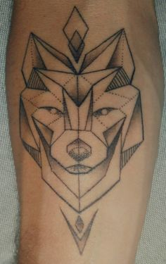 Geometric Wolf by Flutterby-Effect in Offenburg Germany