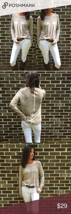 Spotted while shopping on Poshmark: Tan Flecked Pullover! #poshmark #fashion #shopping #style #523 Boutique #Tops
