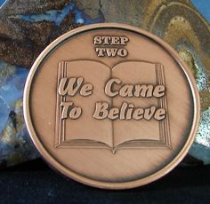 Solid Copper CAUS Alcoholics Anonymous AA Step 2 Medallion NA Narcotics Alanon