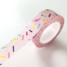 Pink sprinkles Washi Tape sprinkle planner sticker tape deco paper tape Made in China Washi Tape Crafts, Washi Tape Set, Masking Tape, Paper Craft Supplies, Paper Crafts, Art Supplies, Deco Stickers, Washi Tape Planner, Cute Stationary