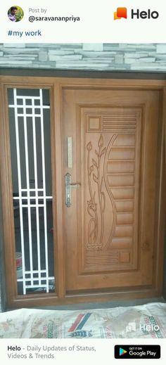 Single Main Door Designs, House Main Door Design, Main Entrance Door Design, Wooden Front Door Design, Pooja Room Door Design, Door Gate Design, Door Design Interior, Wooden Glass Door, Wooden Doors
