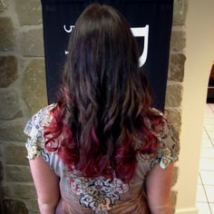 Red ombré! Done with the new Redken Chromatics color line and the high fusion color line! Happy graduation Lorna!!!