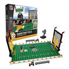 OYO Sports Pittsburgh Steelers 405-Piece Game Time Building Block Set, Multicolor