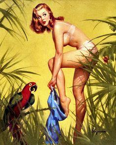 """Gil Elvgren - """"Bare Essentials"""" 1957 [403]"""