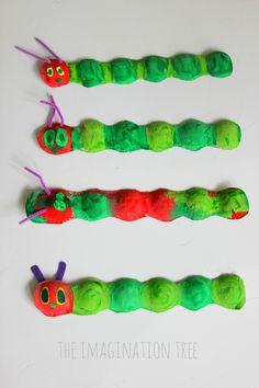 Fruit box hungry caterpillar craft- square