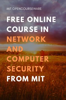 Network and Computer Security is an upper-level undergraduate, first-year graduate course on network and computer security. It fits within the Computer Systems and Architecture Engineering concentration. Web Design Tutorial, Importance Of Time Management, Going To University, Computer Security, Schools First, Online Security, Quiz, Layout, Online Programs