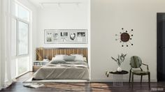 contemporary bedroom in white