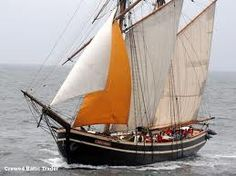 """""""Etoile de France"""", Baltic Trader schooner. Hundreds of such danish coasters were built in different dimensions with various rigs, until 1930"""