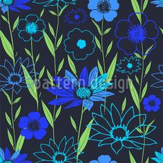 Lucky Place At Night designed by Dorothee Schaller, vector download available on patterndesigns.com
